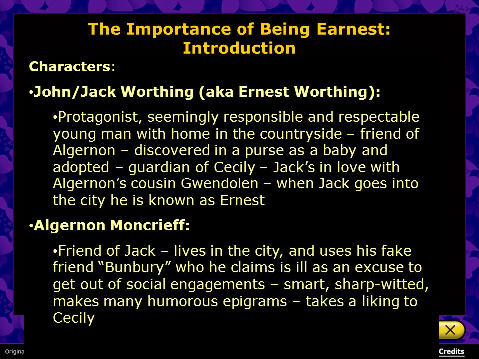 the importance of being earnest marriage and respectability download this essay print save essay Wilde, oscar fingal o'flahertie wills (1854–1900) and canon chasuble in the importance of being earnest for the chancellor's english essay prize.