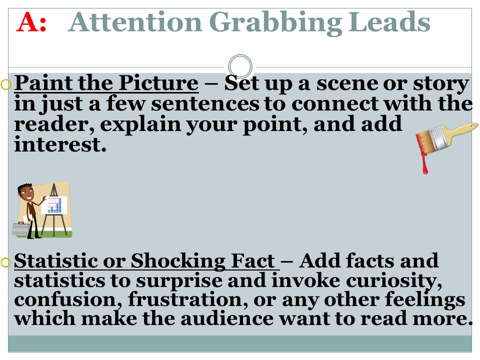 What is a good attention grabber for a persuasive speech about the negative effects of music?