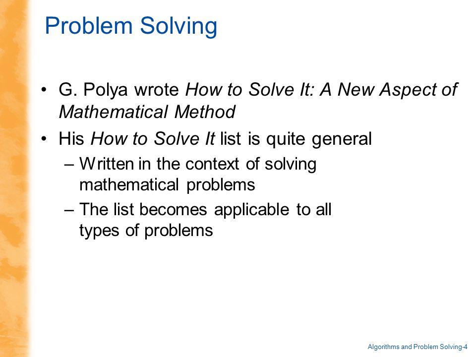 General Problem Solving Strategies