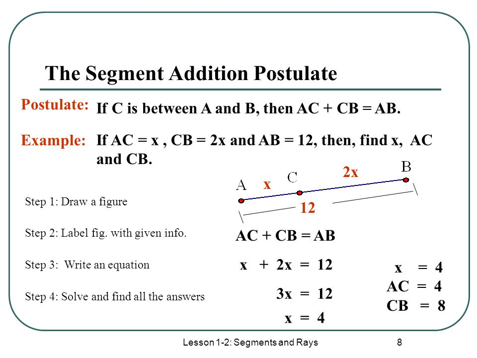 1 10 Segment Addition Postulate Academic Worksheet Answers – Segment Addition Worksheet