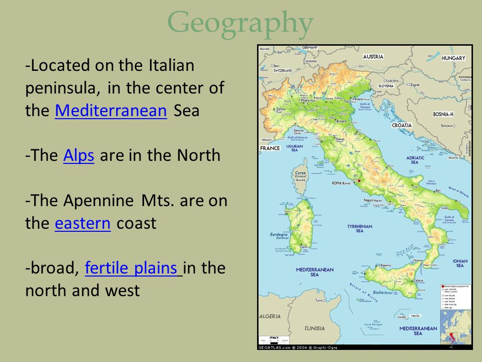 Unit Lesson Ancient Rome Geography Located On The Italian - Geography of rome