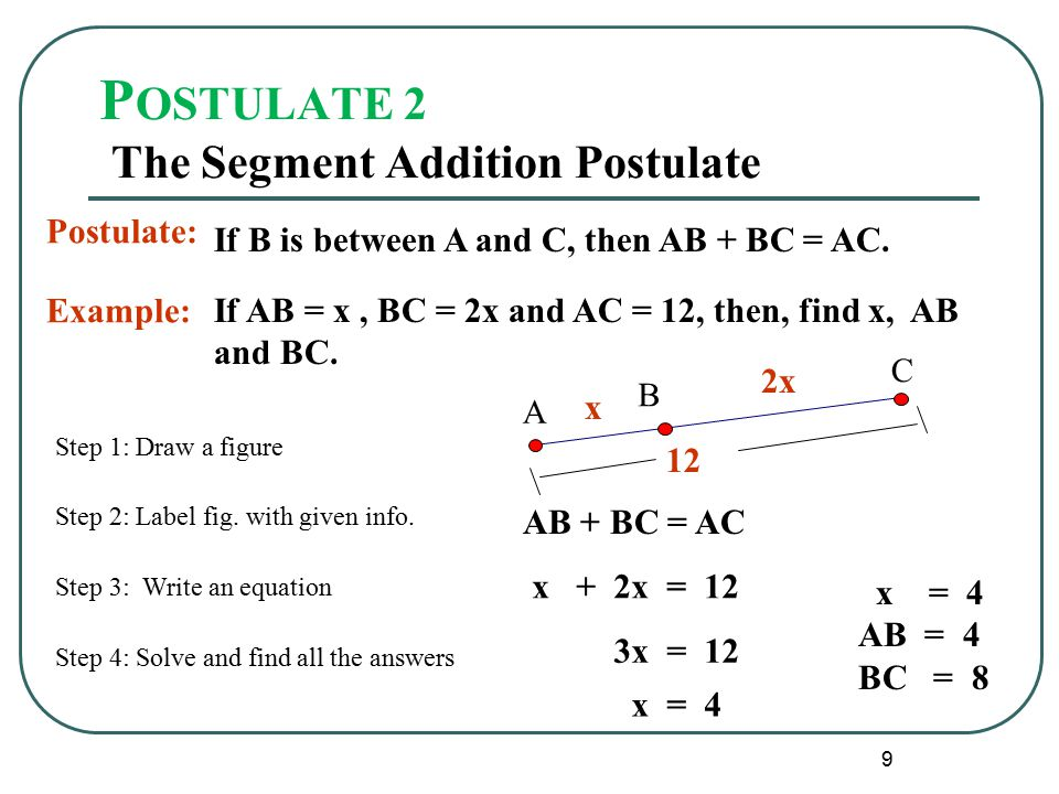 geometry segment addition postulate worksheet – Segment Addition Worksheet