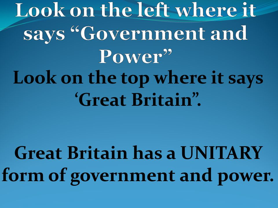 """Look on the top where it says 'Great Britain"""". Great Britain has a ..."""