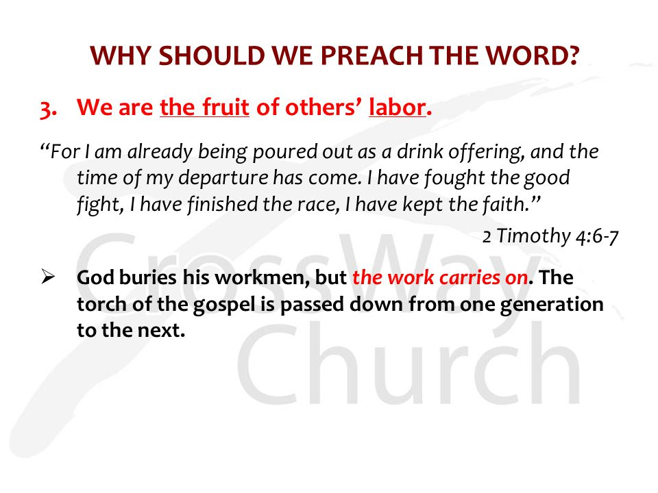 3.We are the fruit of others' labor.