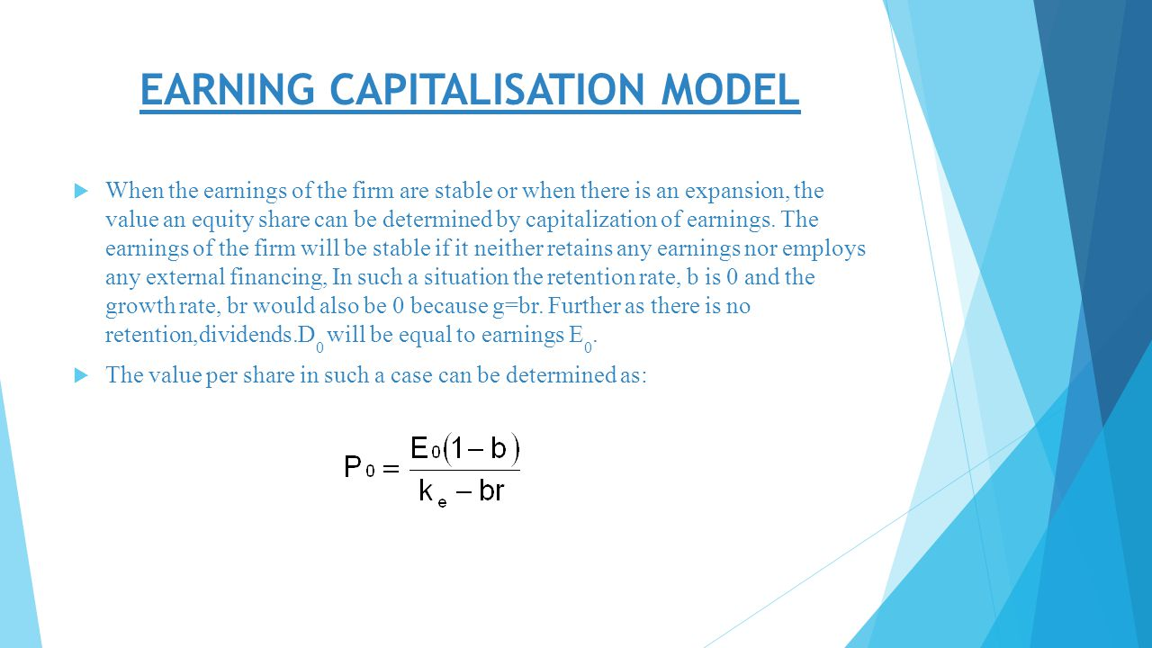 DIVIDEND VALUATION AND EARNING CAPITALISATION MODEL Ppt Download