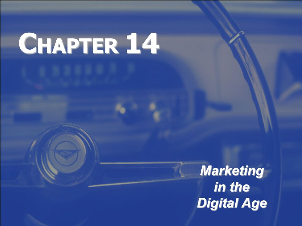 C HAPTER 14 Marketing in the Digital Age