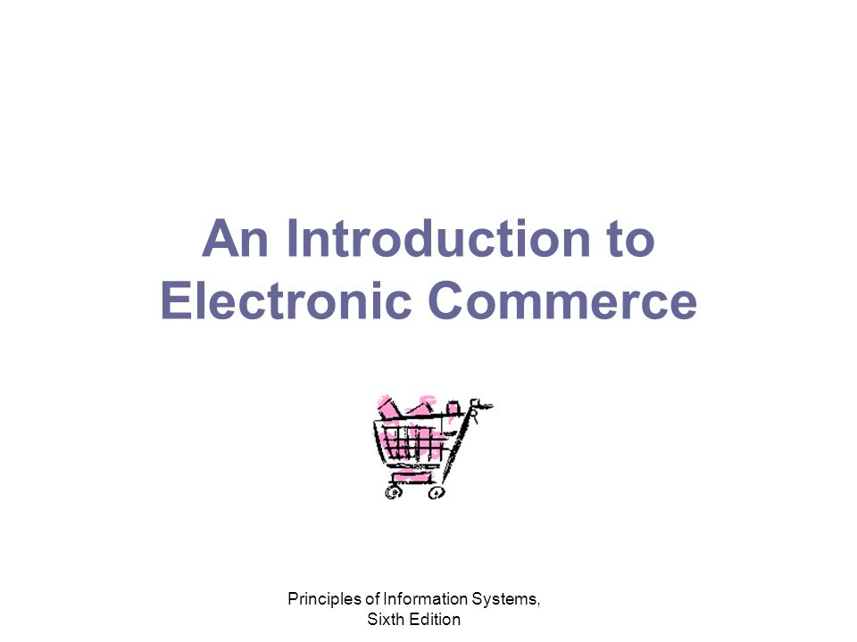 Principles of Information Systems, Sixth Edition An Introduction to Electronic Commerce