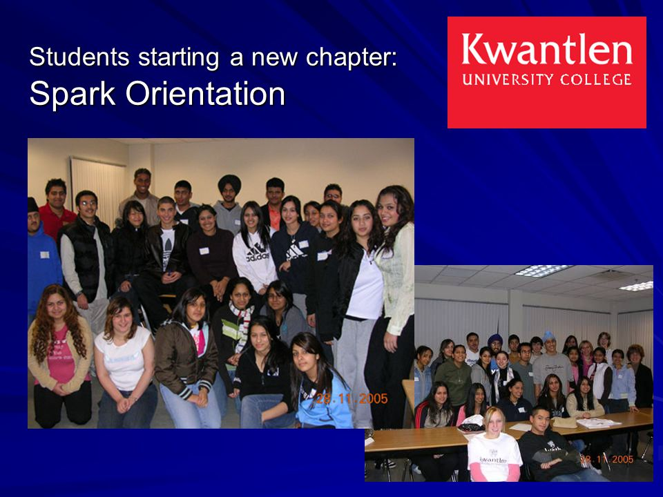 Students starting a new chapter: Spark Orientation