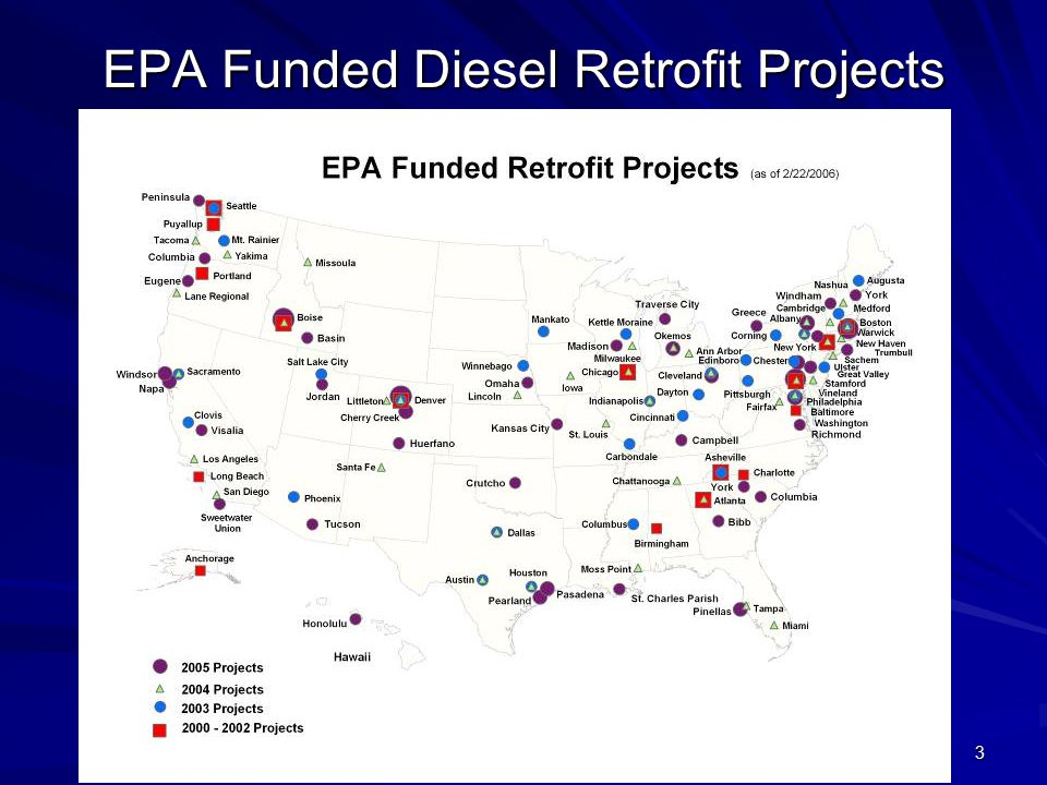 3 EPA Funded Diesel Retrofit Projects