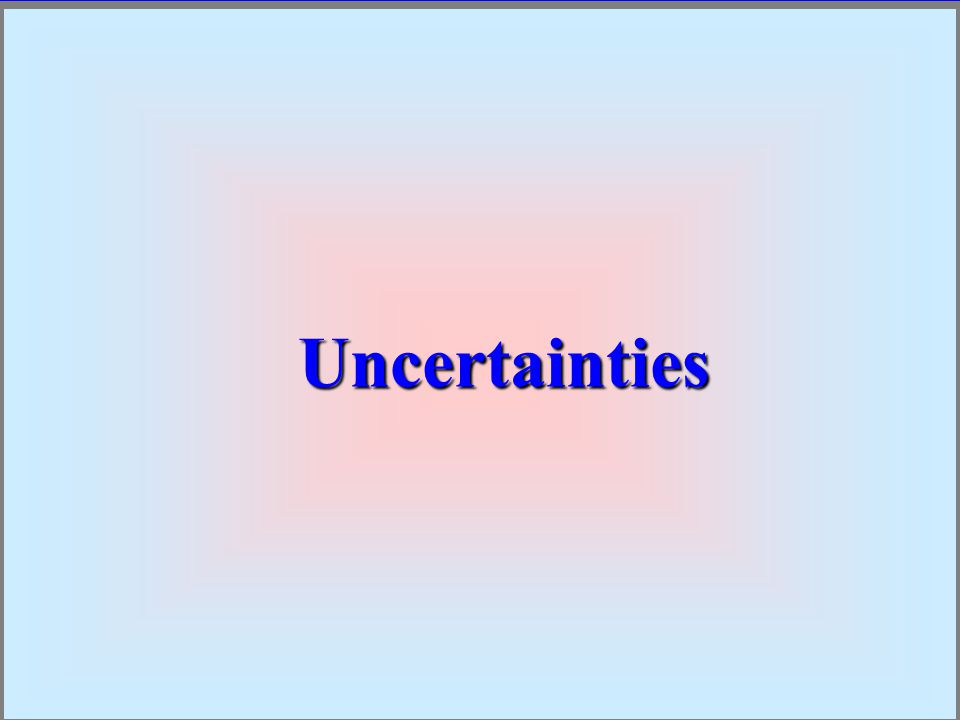UncertaintiesUncertainties