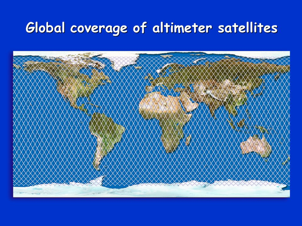 Global coverage of altimeter satellites