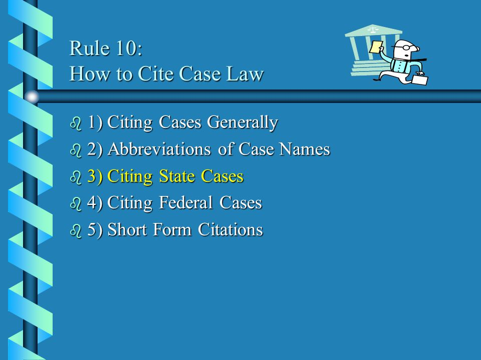 An Introduction to Legal Citation Fall 2004 Learning How to Use ...
