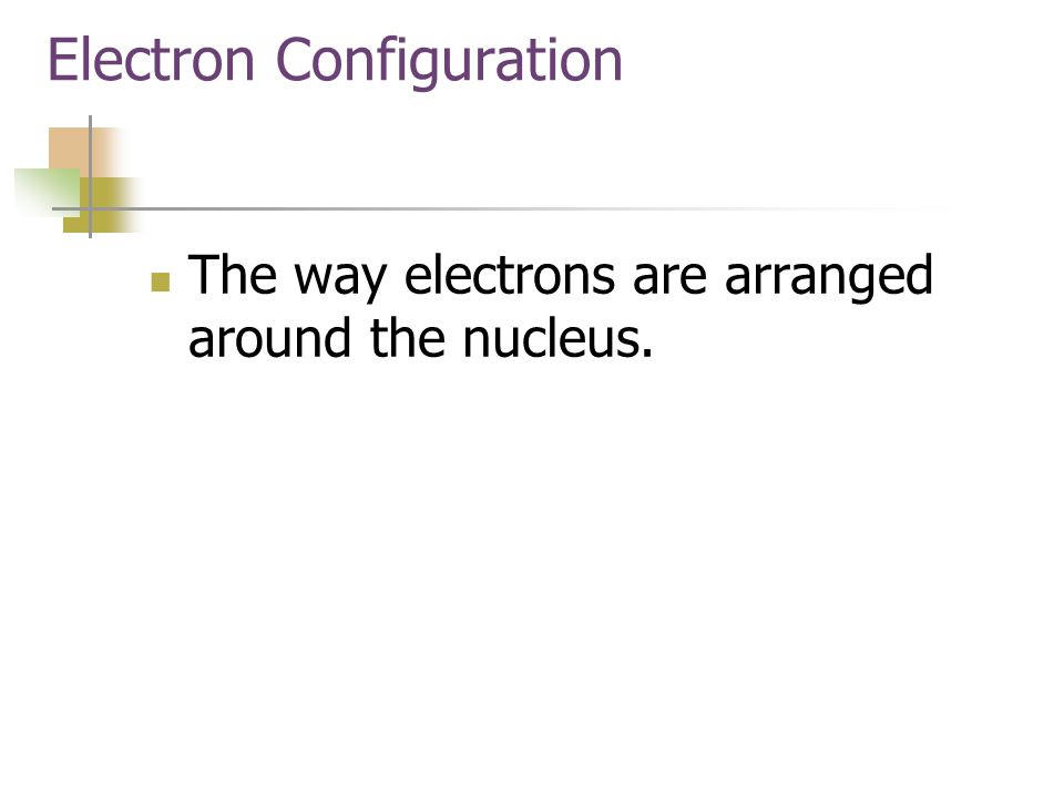 Electron Configuration Mapping The Electrons Electron