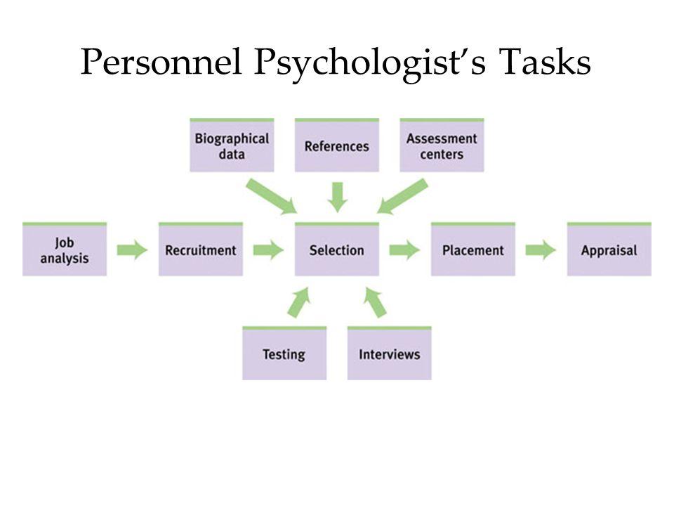 Personnel Psychologist's Tasks
