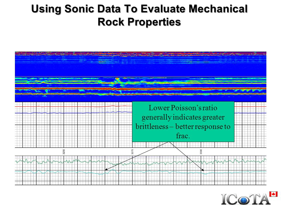 Using Sonic Data To Evaluate Mechanical Rock Properties Lower Poisson's ratio generally indicates greater brittleness – better response to frac.
