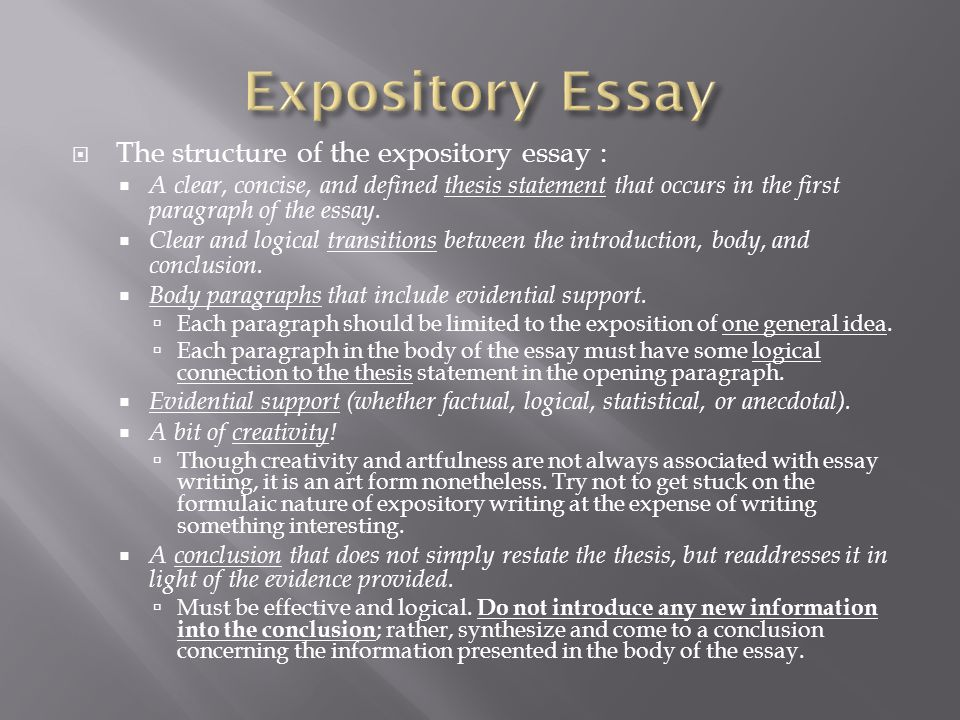 literary definition of expository essay How can the answer be improved.