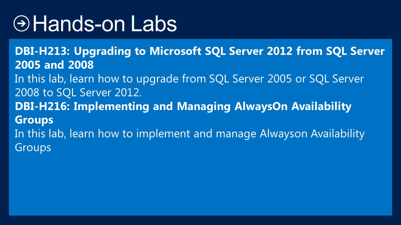 Cra administering microsoft sql server 2012 databases implementing 35 dbi h213 upgrading to microsoft sql server 2012 from sql server 2005 and 2008 in this lab learn how to upgrade from sql server 2005 or sql server 2008 sciox Choice Image
