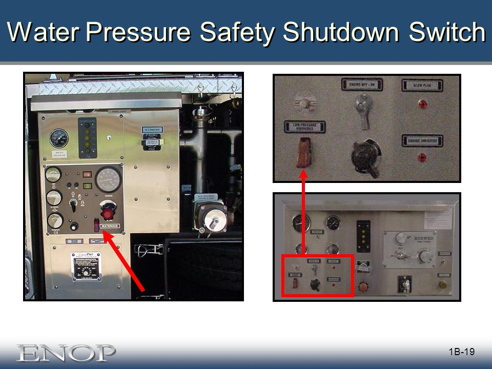 1B-19 Water Pressure Safety Shutdown Switch