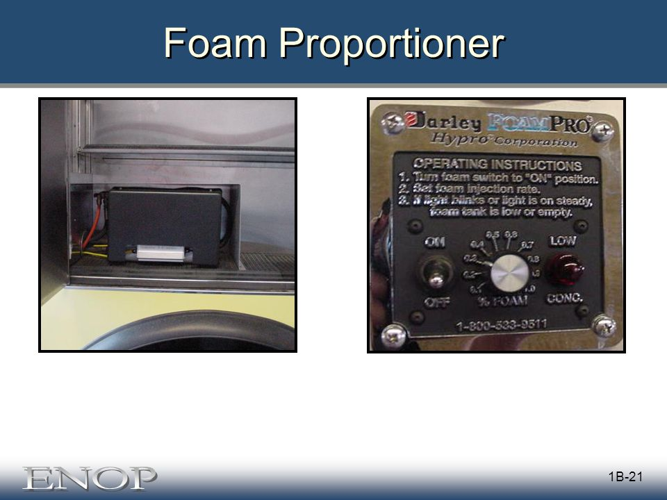 1B-21 Foam Proportioner