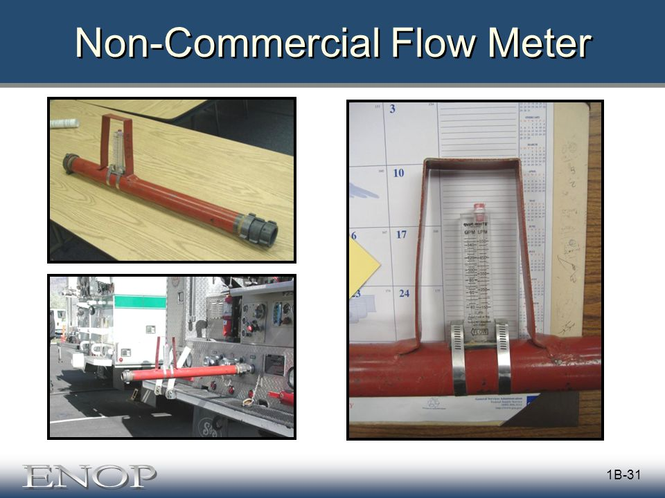 1B-31 Non-Commercial Flow Meter