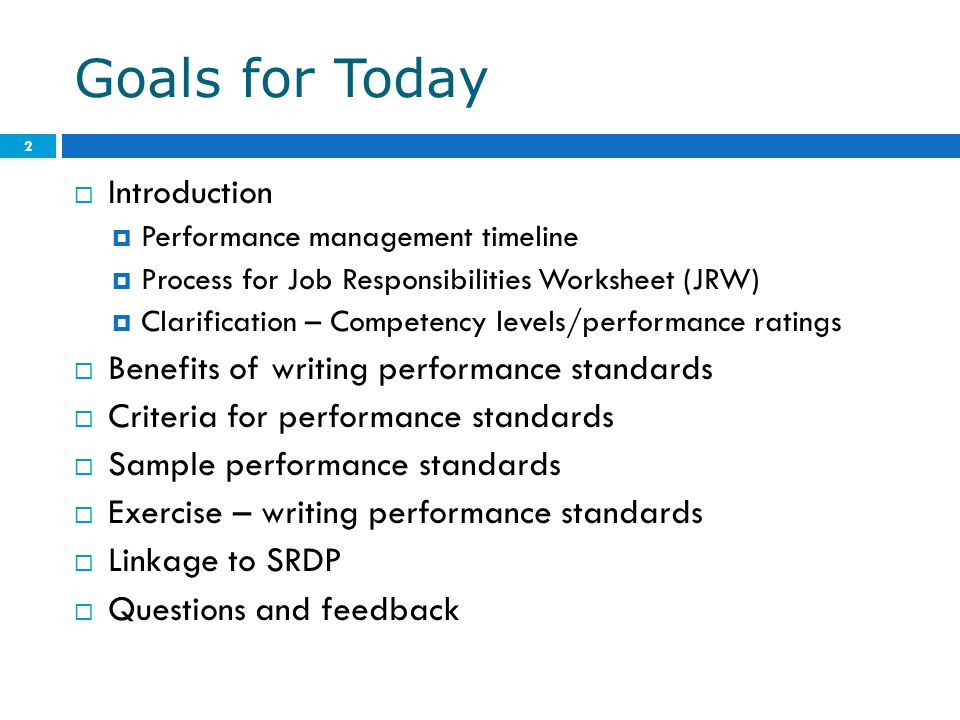 writing performance goals Discusses how to write and where to get a longer-term goal is to improve human performance through better although writing good work objectives is.