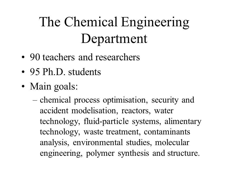 index design thesis chemical engineering