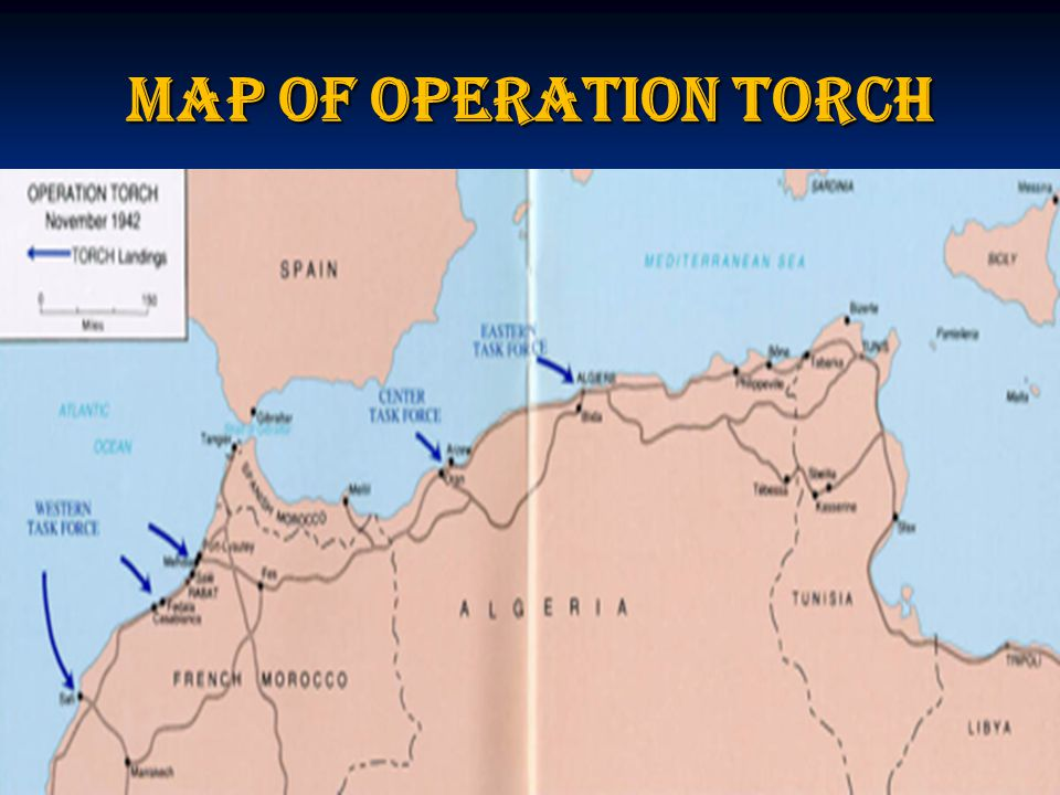 Map of Operation Torch