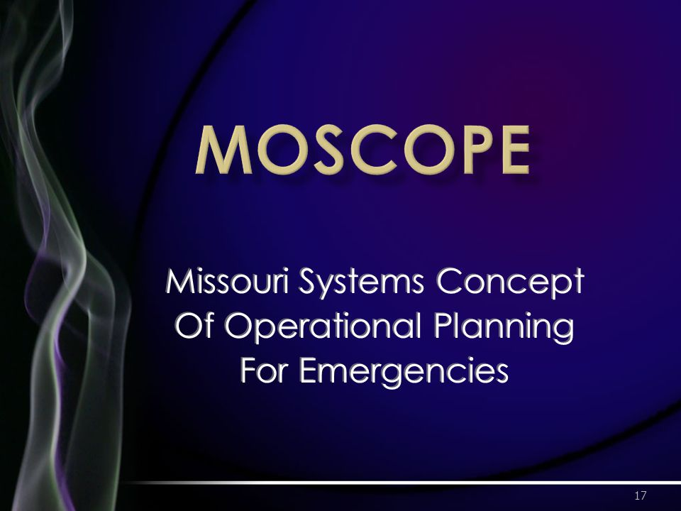17 Missouri Systems Concept Of Operational Planning For Emergencies