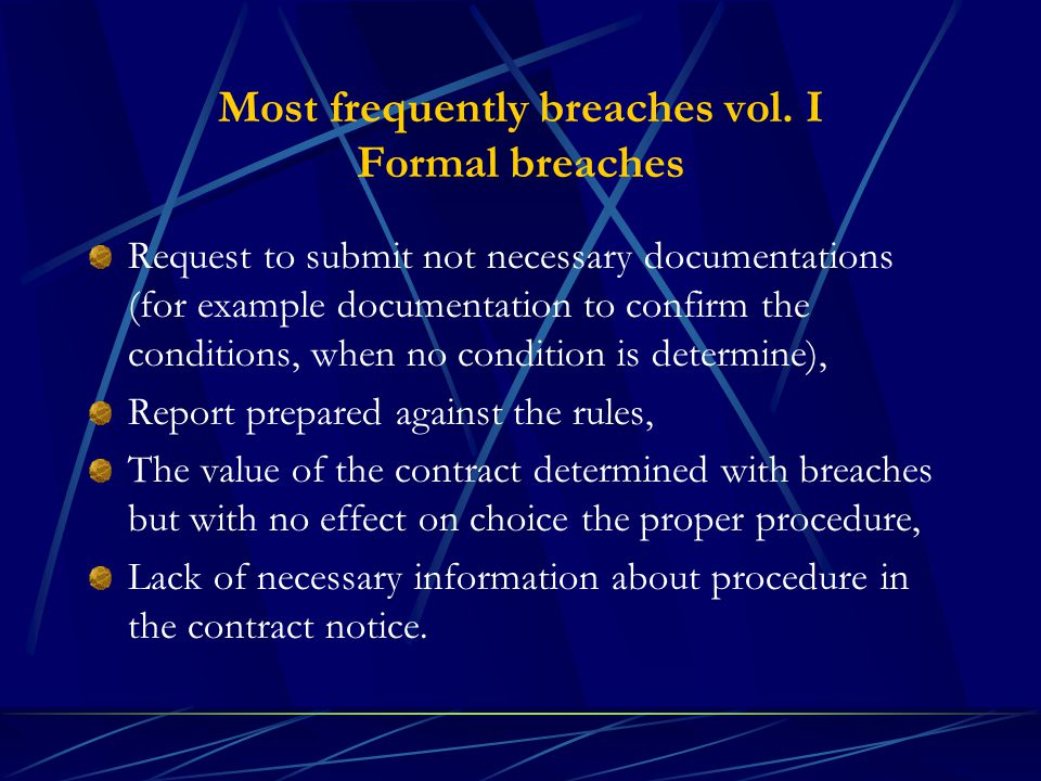 Most frequently breaches vol.