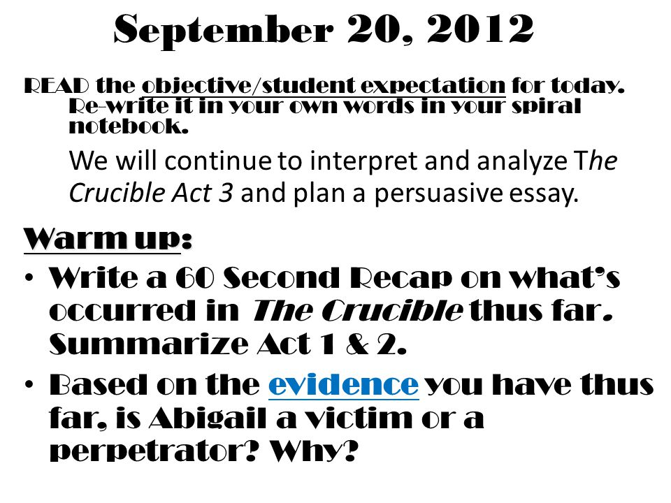 the objective student expectation for today re write it in   the objective student expectation for today
