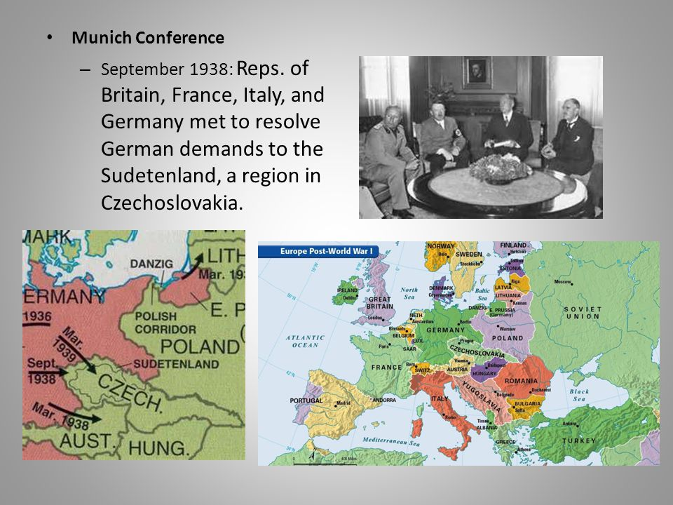 Munich Conference – September 1938: Reps.