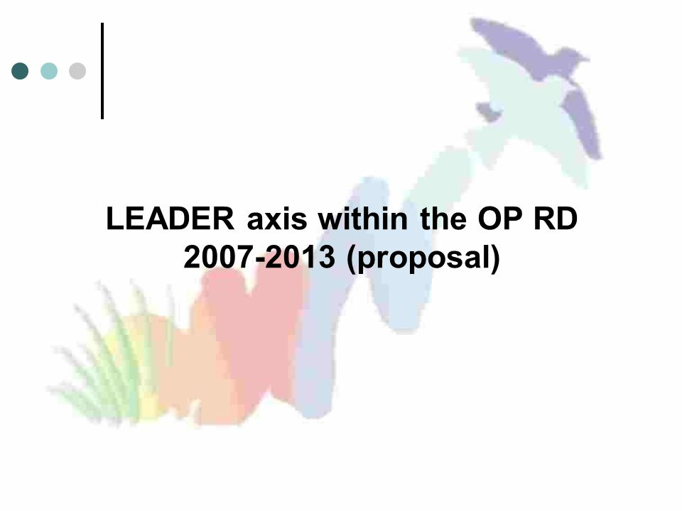 LEADER axis within the OP RD (proposal)