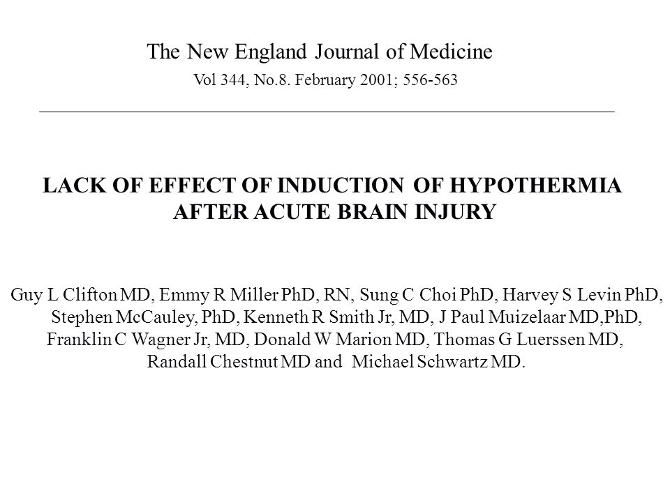 The New England Journal of Medicine Vol 344, No.8.