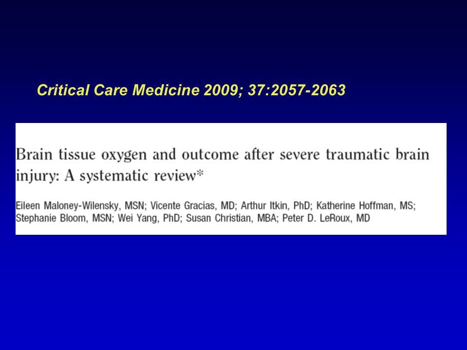 Critical Care Medicine 2009; 37:2057-2063