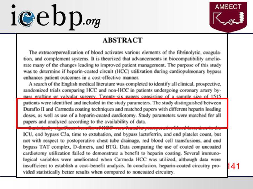 Heterogeneity in Metanalyses JECT. 1999(31);3:135-141