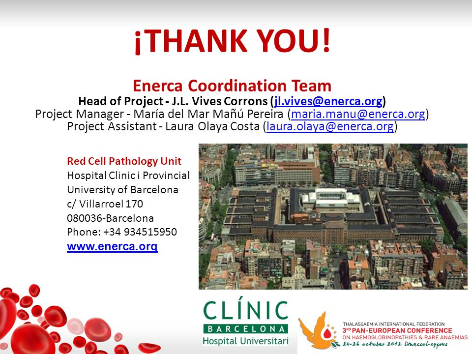 ¡THANK YOU. Enerca Coordination Team Head of Project - J.L.