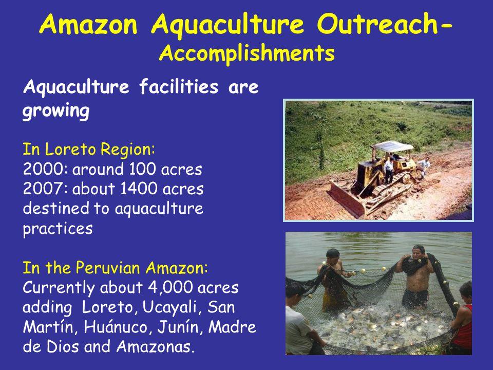 Amazon Aquaculture Outreach Success stories