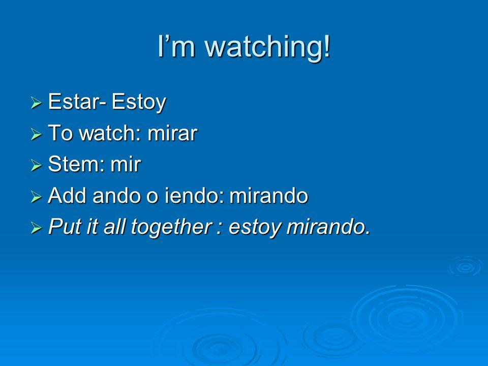 I'm watching.