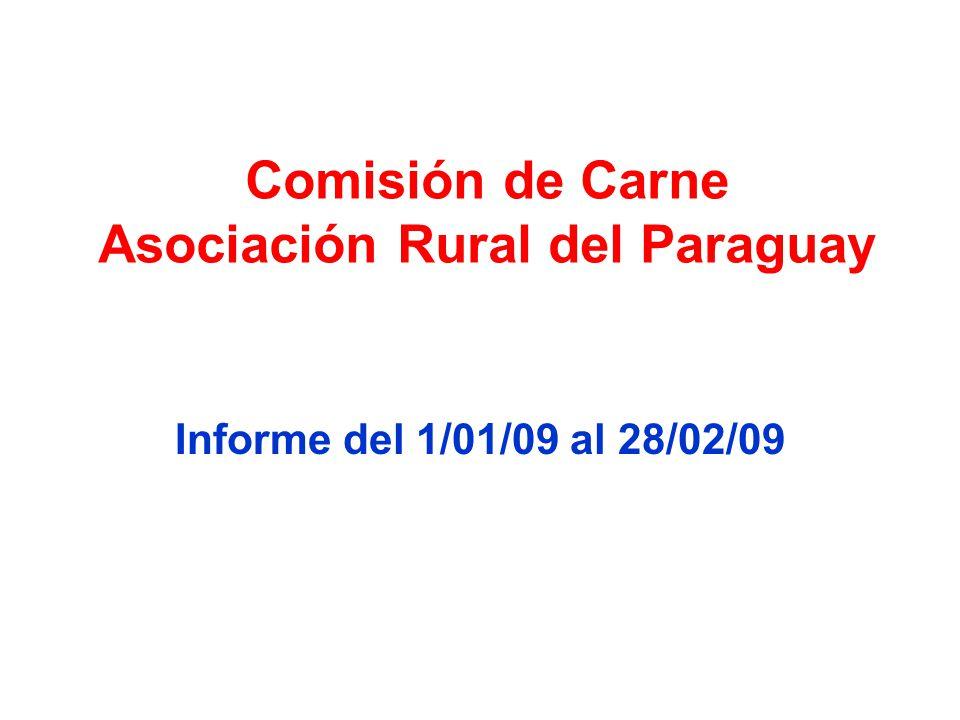 Comisión de Carne Asociación Rural del Paraguay Informe del 1/01/09 al 28/02/09