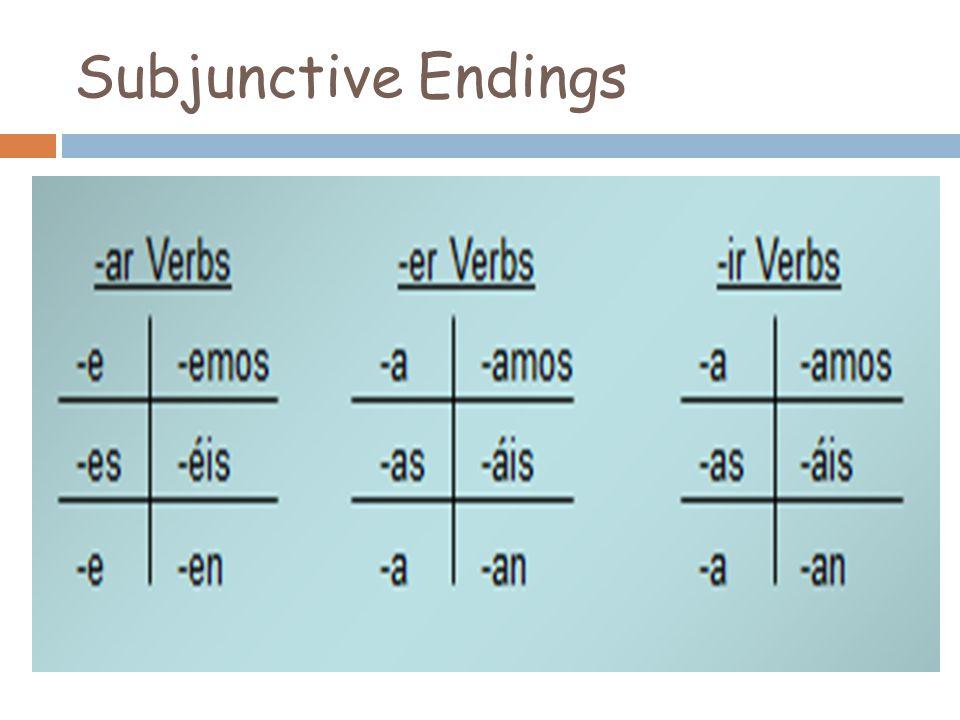 Subjunctive Endings