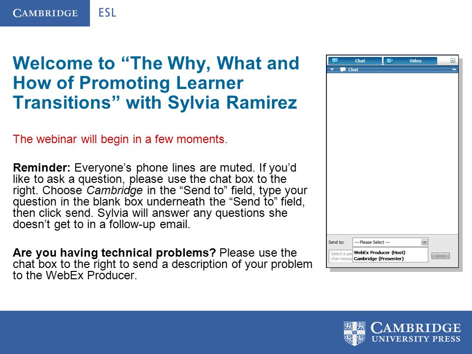The Why, What and How of Promoting Learner Transitions Presented by Sylvia G.