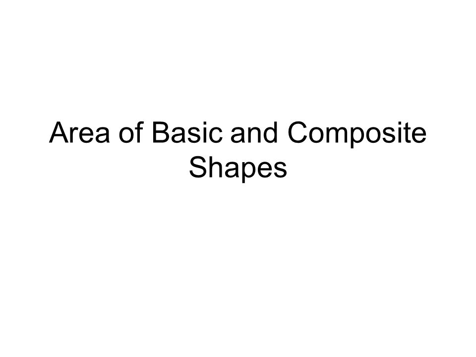 Area of Basic and Composite Shapes