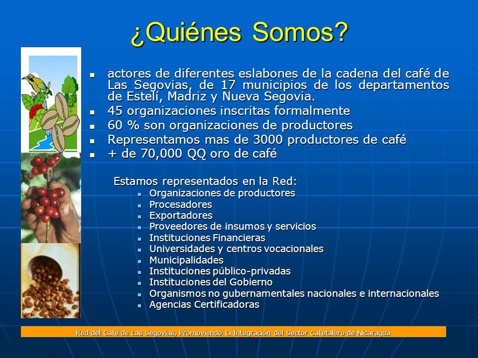 Red del Café de Las Segovias, Promoviendo la Integración del Sector Cafetalero de Nicaragua ¿Quiénes Somos.