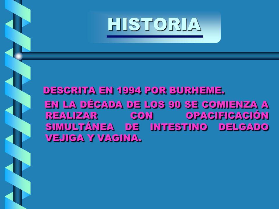 DESCRITA EN 1994 POR BURHEME. DESCRITA EN 1994 POR BURHEME.
