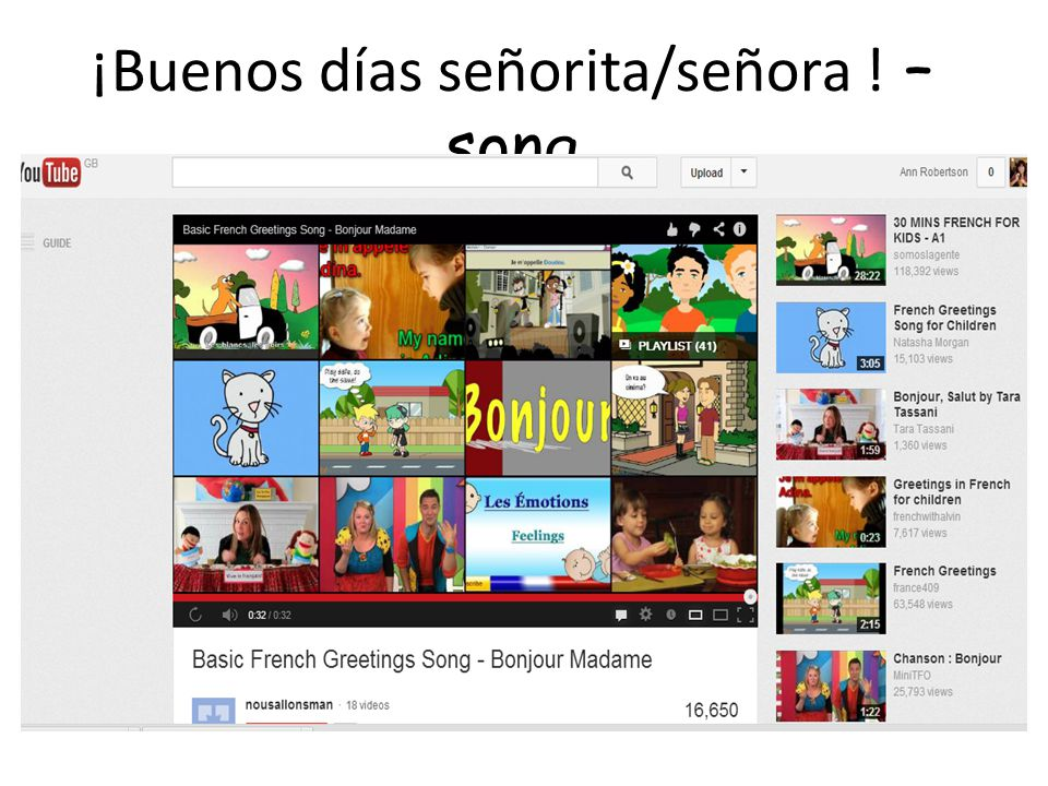 Songs and videos! You will find a bank of sample songs and videos which you can use to practise the vocabulary in the classroom. This is not a prescri
