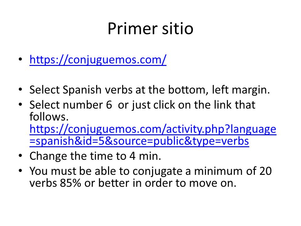 Primer sitio https://conjuguemos.com/ Select Spanish verbs at the bottom, left margin.