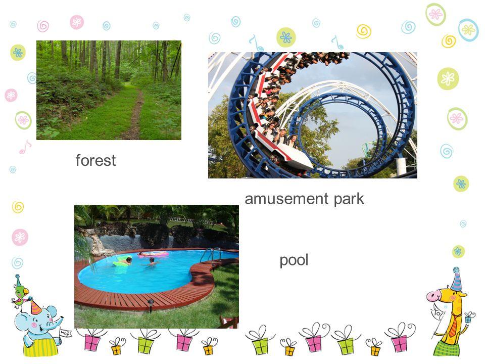 forest amusement park pool