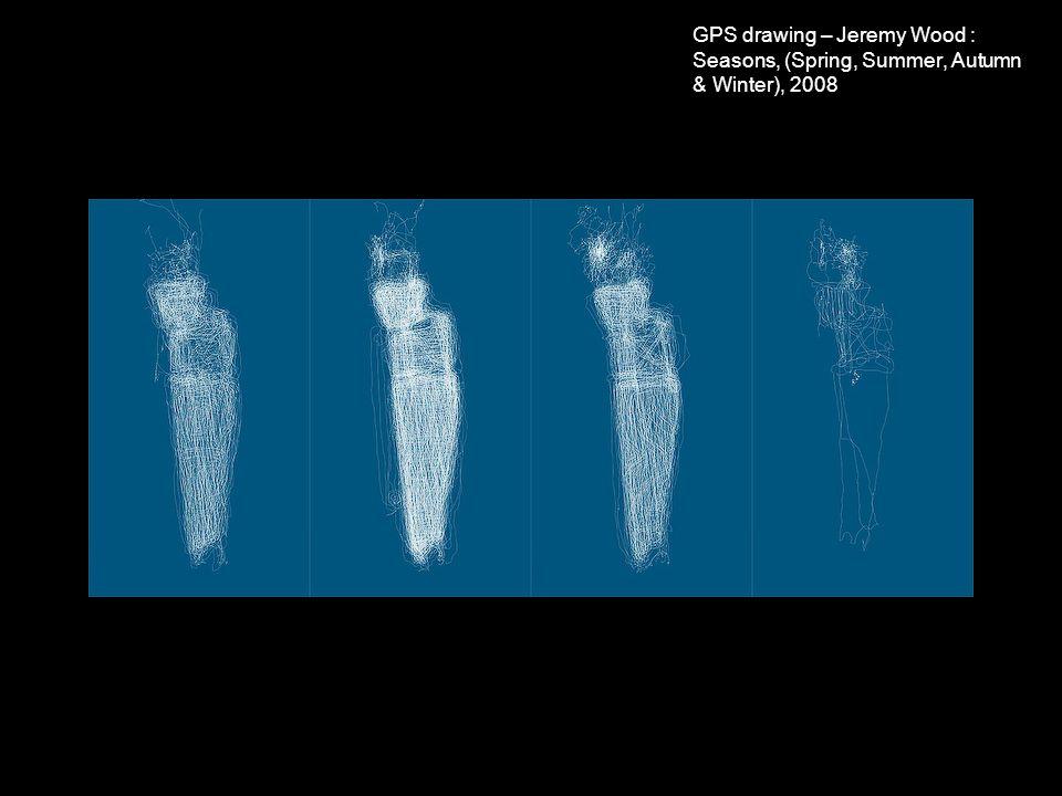 GPS drawing – Jeremy Wood : Seasons, (Spring, Summer, Autumn & Winter), 2008