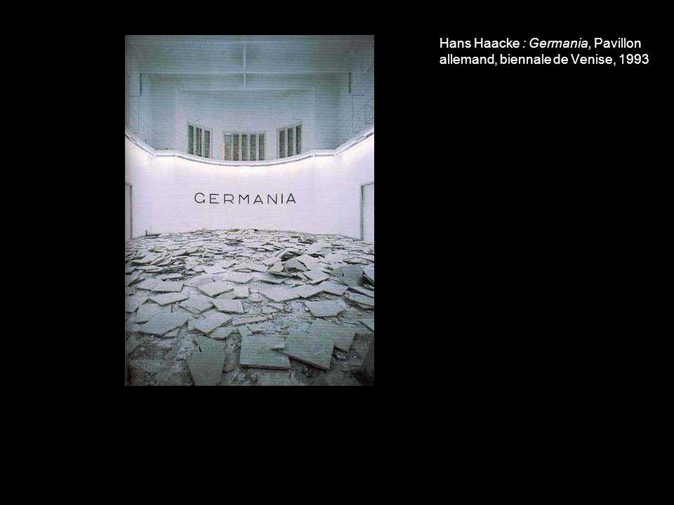 Hans Haacke : Germania, Pavillon allemand, biennale de Venise, 1993