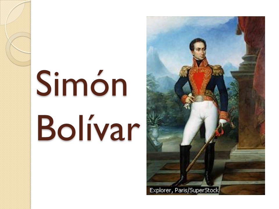 Simón José Antonio de la Santísima Trinidad Bolívar y Palacios was a South American nationalist and general.